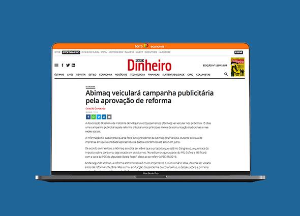 A ABIMAQ veiculará campanha publicitária pela aprovação de reforma